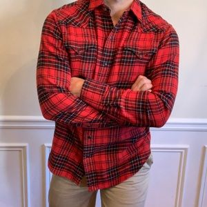 NWT! Polo Ralph Lauren Flannel Button Up in Red